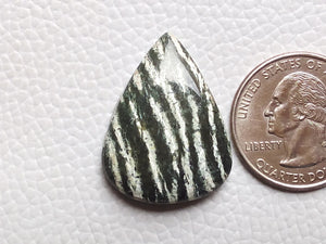 29x22x6 mm, Natural Chrysotile Gemstone Pear Shape