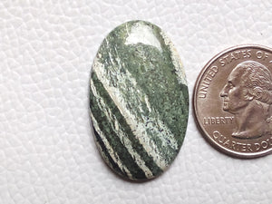 34x21x4 mm, Natural Chrysotile Gemstone Oval Shape