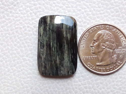 28x19mm, Natural Black Striped Jasper Baguette Shape