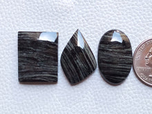 Load image into Gallery viewer, 3 Pcs Natural Black Striped Jasper Mix Shape