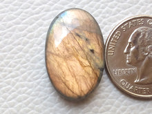 Load image into Gallery viewer, 25x16x7mm,  Natural  Labradorite Oval Shape