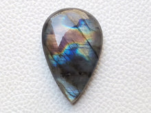 Load image into Gallery viewer, 38x24x8mm, Natural  Labradorite Multifire Teardrop Shape