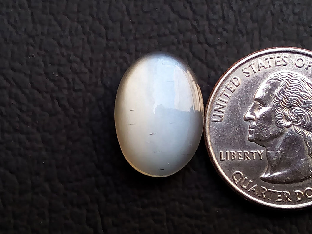 18x13x6mm, Top Grade Grey  Moonstone Oval Shape