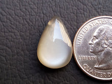 Load image into Gallery viewer, 20x13x6mm, Natural  Grey  Moonstone fancy  Shape