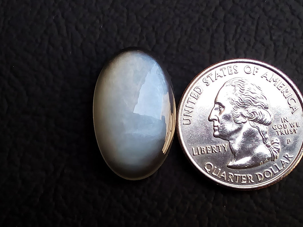 24x15x6mm, Natural  Grey  Moonstone Oval Shape