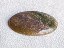 Load image into Gallery viewer, 53x35x6mm, Natural  Moss Agate Stone Oval Shape