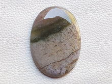 Load image into Gallery viewer, 54x38x6mm, Natural  Moss Agate Stone Oval Shape