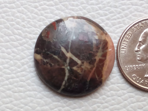 26x26x5mm Coconut Jasper Round Shape