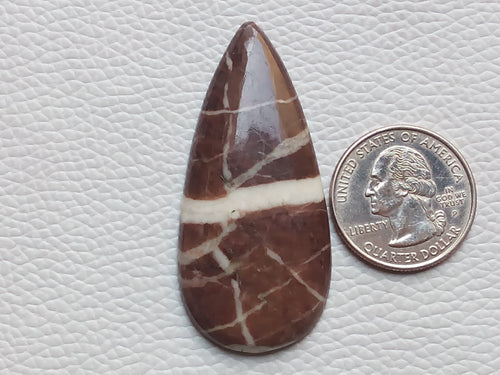 55x25x5mm Coconut Jasper Teardrop Shape