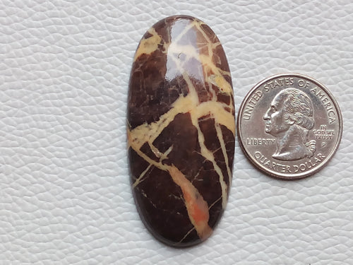 52x25x6mm Coconut Jasper Oval Shape