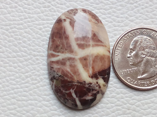 38x24x6mm Coconut Jasper Oval Shape