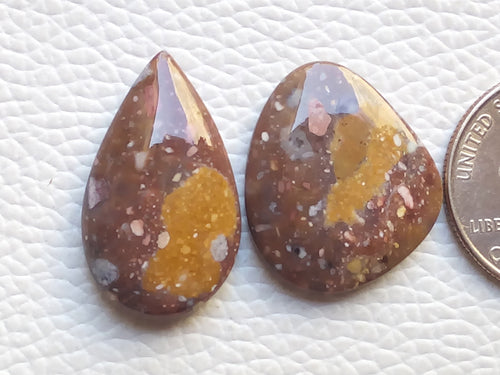 2 Pcs Natural Prim Jasper Mix Shape