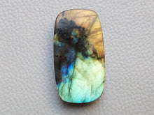 Load image into Gallery viewer, 43x23x8 mm,Natural Labradorite Cabochon Gemstone Baguette Shape