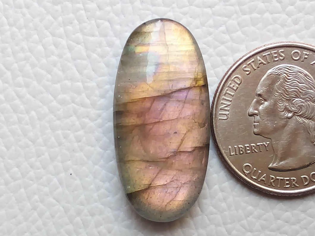 31x15x7 mm,Natural Labradorite Cabochon Gemstone Oval Shape