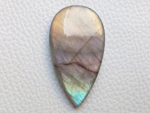 39x22x5 mm,Natural Labradorite Cabochon Gemstone Teardrop Shape