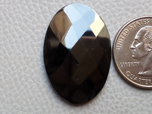 33x23x4mm Gunmetal Oval Shape