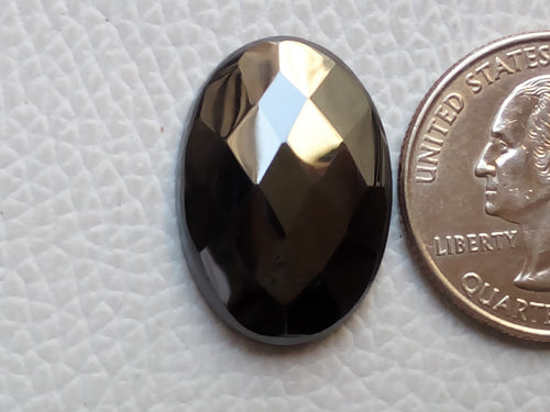 24x17x5mm Gunmetal Oval Shape