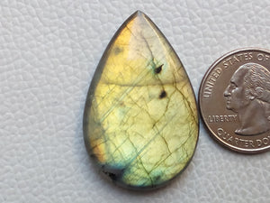 41x27x7 mm,Natural Labradorite Cabochon Gemstone  Shape