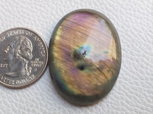 Load image into Gallery viewer, 36x28x8 mm,Natural Labradorite Cabochon Gemstone Oval Shape