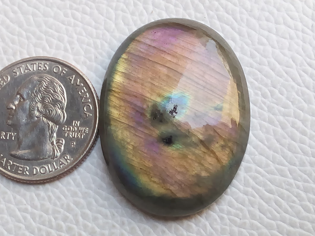 36x28x8 mm,Natural Labradorite Cabochon Gemstone Oval Shape