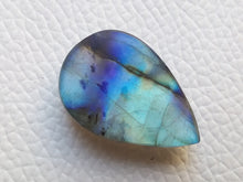 Load image into Gallery viewer, 27x18x8 mm, Natural Labradorite Cabochon Gemstone Teardrop Shape