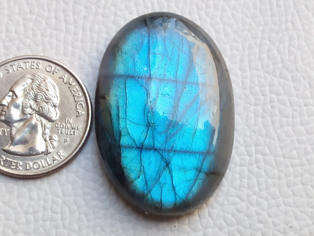 40x27x10 mm, Natural Labradorite Cabochon Gemstone Oval Shape