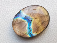 Load image into Gallery viewer, 33x25x8 mm, Natural Labradorite Cabochon Gemstone Oval Shape