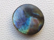 Load image into Gallery viewer, 27x25x7 mm,Natural Labradorite Cabochon Gemstone Round  Shape