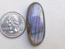 Load image into Gallery viewer, 38x17x8 mm,Natural Labradorite Cabochon Gemstone Oval Shape