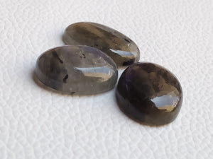 3pcsNatural Labradorite Cabochon Gemstone Mix Shape