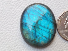 Load image into Gallery viewer, 34x27x7 mm,Bluel Labradorite Cabochon Gemstone Oval Shape