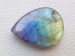 31x24x7 mm,Natural Labradorite Cabochon Gemstone Teardrop Shape