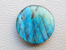 Load image into Gallery viewer, 28x28x6 mm,Natural Labradorite Cabochon Gemstone Round  Shape