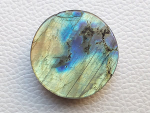 31x31x10 mm,Natural Labradorite Cabochon Gemstone Round  Shape