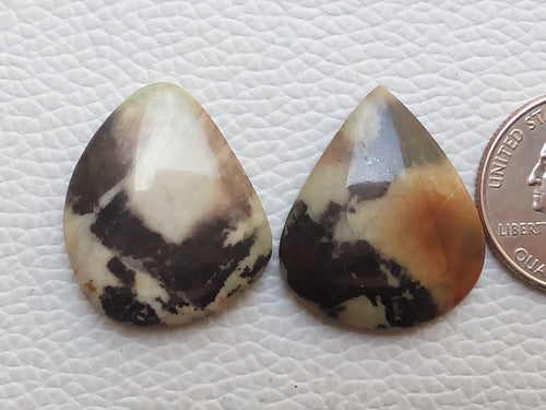 2 Pcs Lomiya Jasper Mix Shape