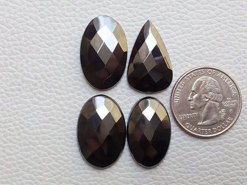 4 Pcs Hematite Faceted Mix Shape