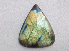 Load image into Gallery viewer, 53x44x8mm, Natural Labradorite Cabochon Gemstone Teardrop Shape