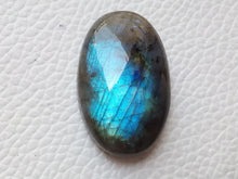 Load image into Gallery viewer, 30x19x9mm Natural Labradorite Cabochon Gemstone Oval Shape