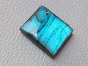 24x21x7mm Natural Labradorite Cabochon Gemstone Rectangular Shape