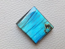 Load image into Gallery viewer, 24x21x7mm Natural Labradorite Cabochon Gemstone Rectangular Shape