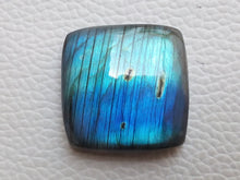 Load image into Gallery viewer, 25x25x9mm Natural Labradorite Cabochon Gemstone Cushion Shape