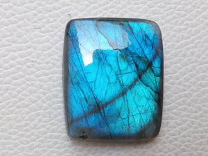 34x28x8mm Natural Labradorite Cabochon Gemstone Rectangular Shape