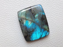 Load image into Gallery viewer, 34x28x8mm Natural Labradorite Cabochon Gemstone Rectangular Shape