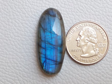 Load image into Gallery viewer, 36x16x8mm Natural Labradorite Cabochon Gemstone Oval Shape