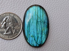 Load image into Gallery viewer, 38x24x8mm, Natural Labradorite Cabochon Gemstone Oval Shape