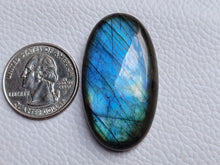 Load image into Gallery viewer, 42x23x9mm, Natural Labradorite Cabochon Gemstone Oval Shape