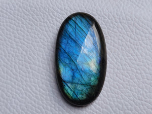 42x23x9mm, Natural Labradorite Cabochon Gemstone Oval Shape