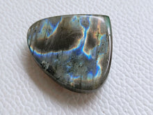 Load image into Gallery viewer, 35x31x8mm, Natural Labradorite Cabochon Gemstone teardrop Shape