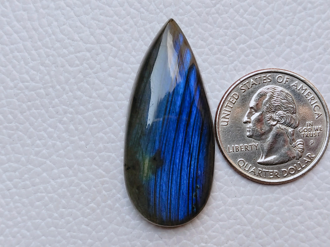 43x19x7mm, Natural Gemstone Labradorite Cabochon teardrop Shape