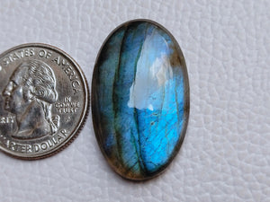 32x19x7mm, Natural Gemstone Labradorite Cabochon Oval Shape